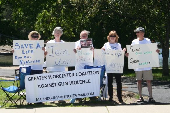 Worcester Vigil against Gun Violence